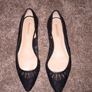 Bcbgmaxazria Black Pointed Flat Shoes